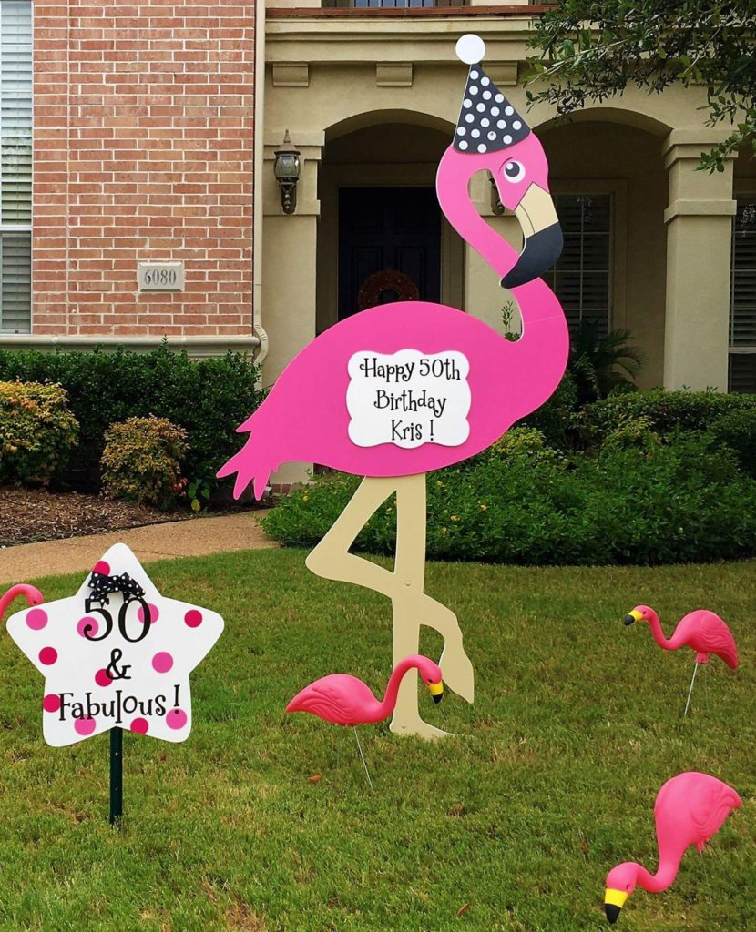 Fayetteville, NC Flamingos Yard Signs